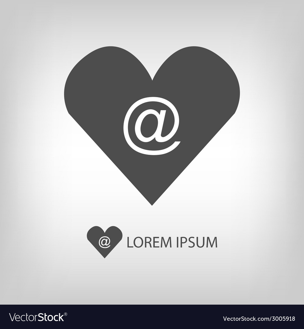 Love mail symbol vector | Price: 1 Credit (USD $1)