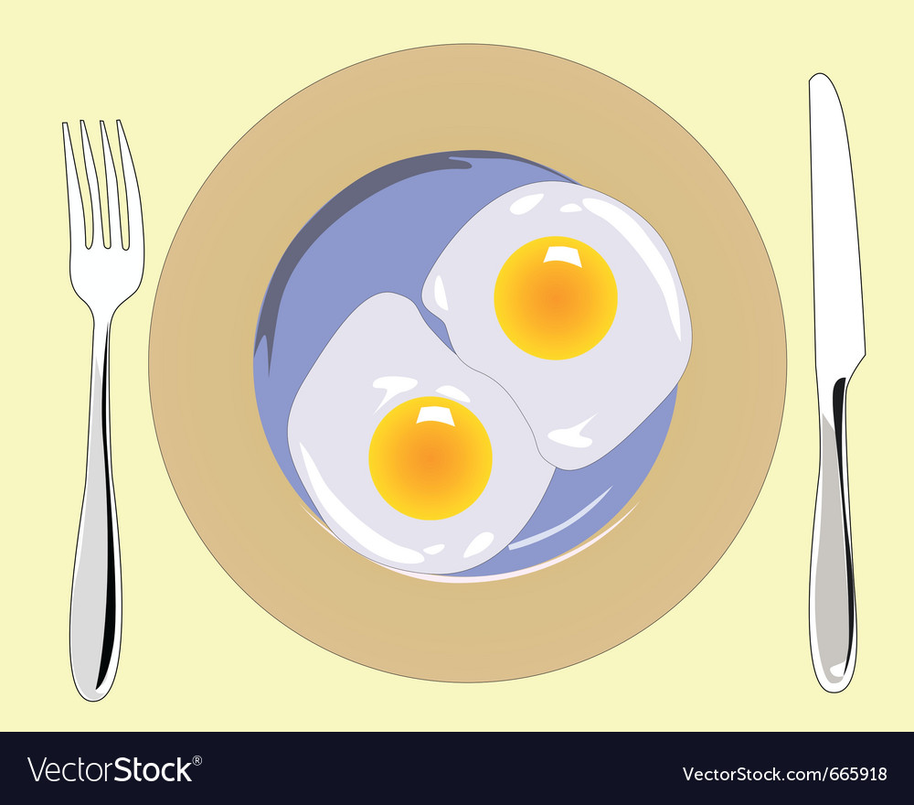 Poached eggs vector | Price: 1 Credit (USD $1)