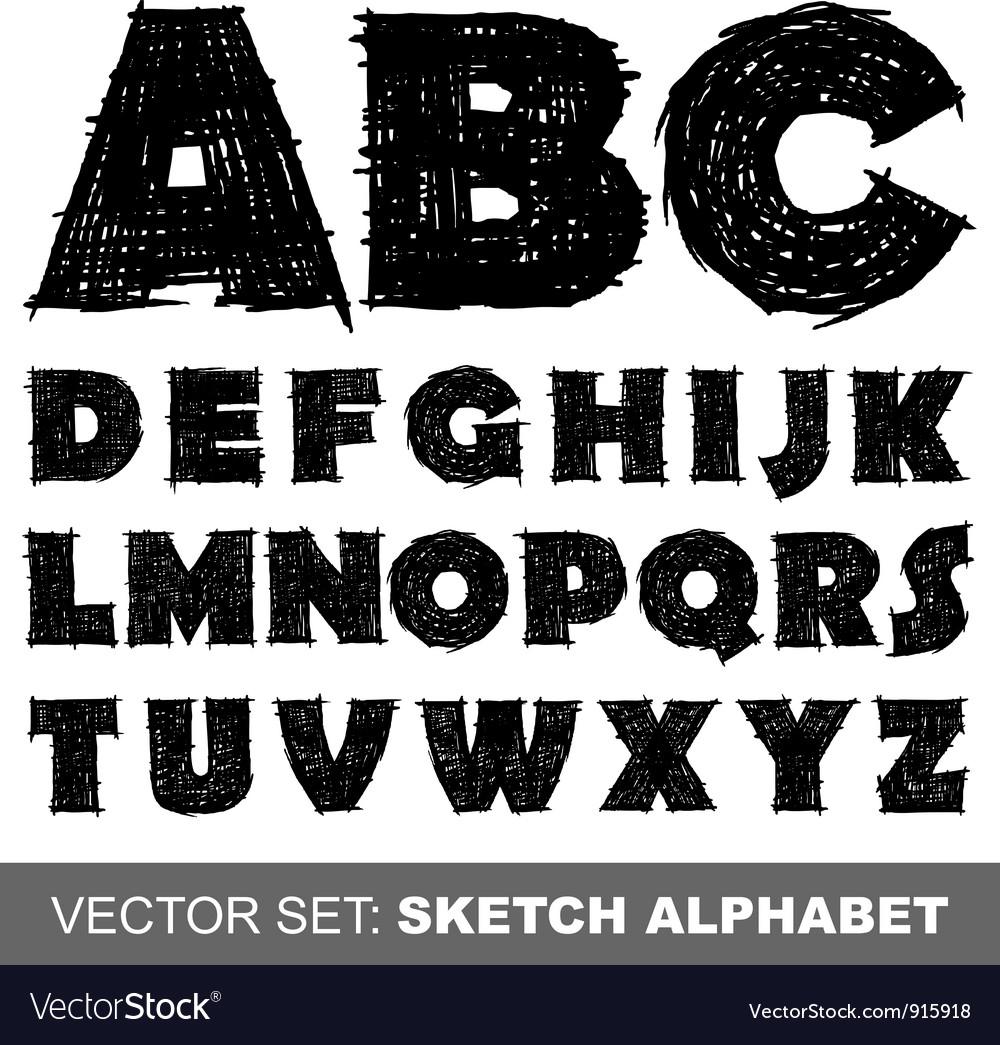 Sketch alfabet vector | Price: 1 Credit (USD $1)