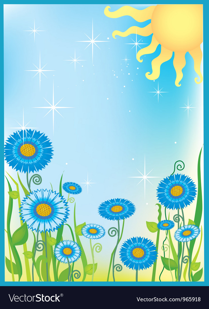 Summer field of flowers vector | Price: 1 Credit (USD $1)