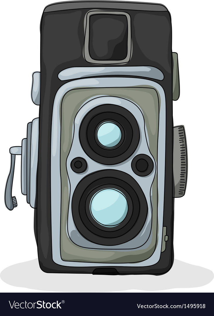 Vintage camera cartoon vector | Price: 1 Credit (USD $1)