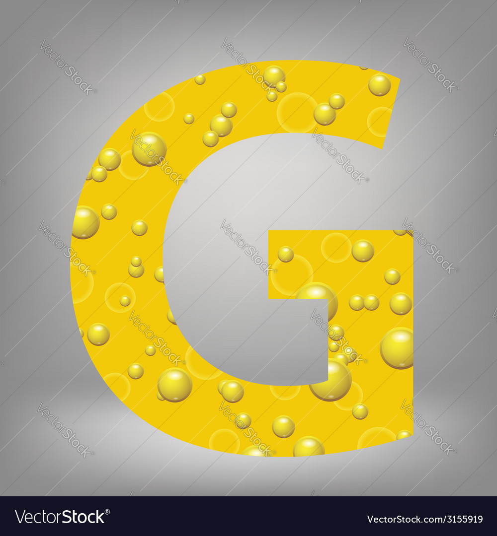 Beer letter g vector | Price: 1 Credit (USD $1)