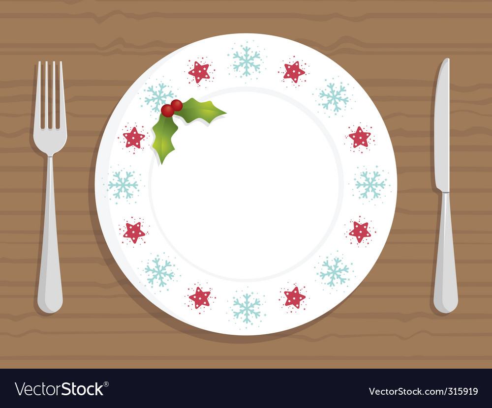 Christmas plate vector | Price: 1 Credit (USD $1)