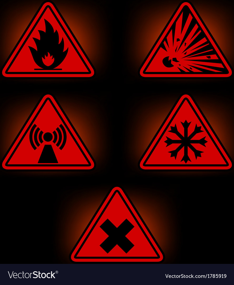 Danger signs 2 vector | Price: 1 Credit (USD $1)