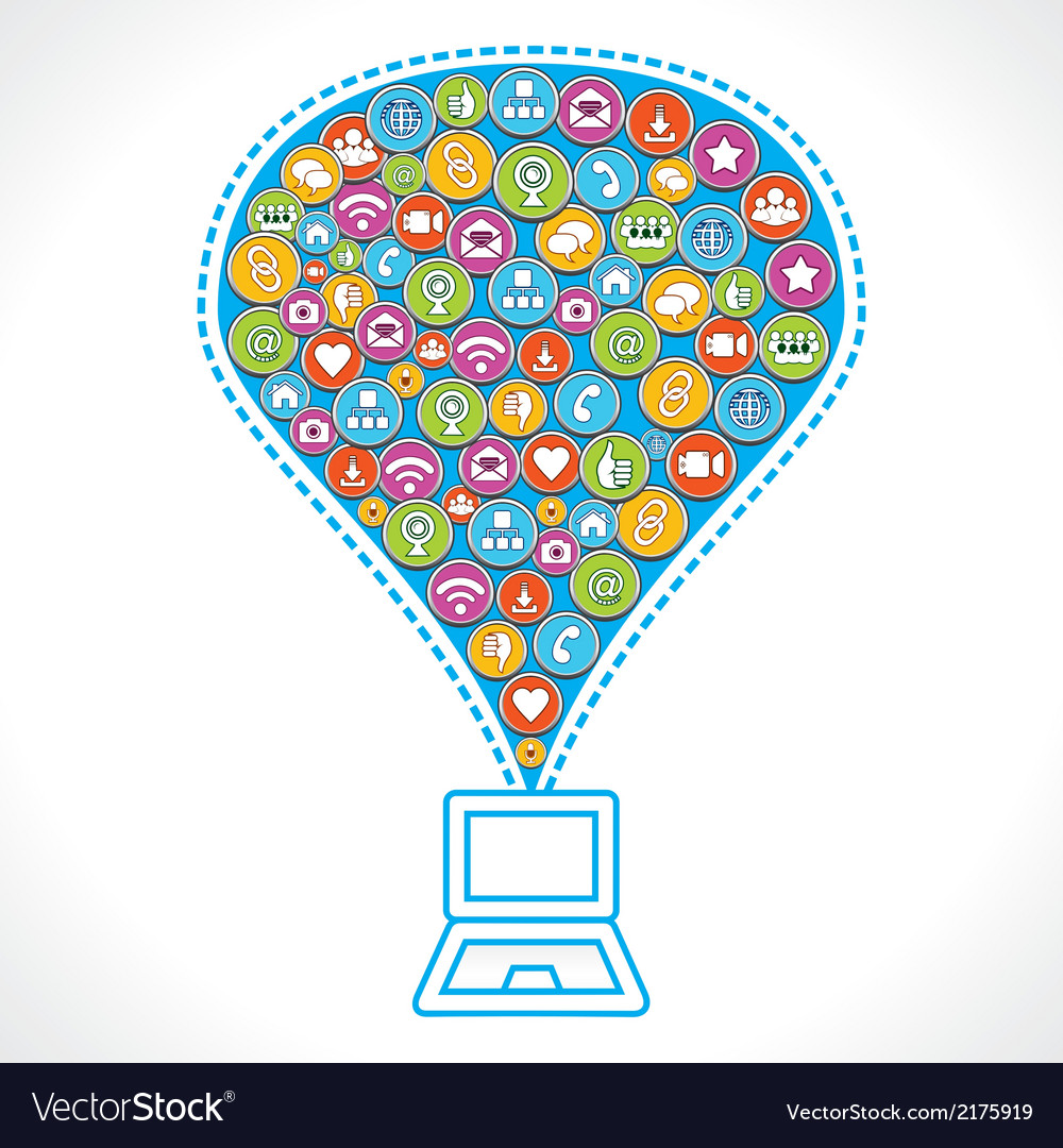 Different social media icons make bubble vector | Price: 1 Credit (USD $1)