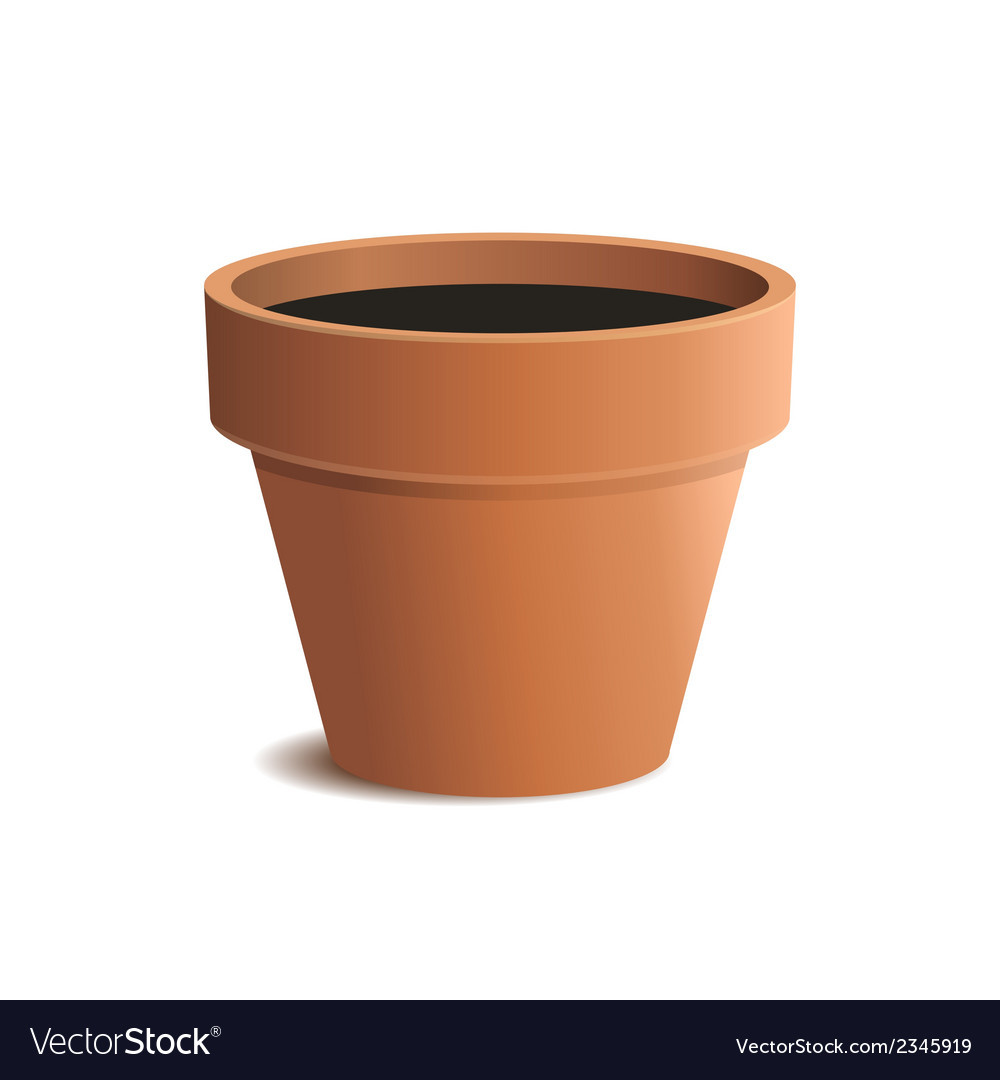 Flower pot isolated on white background vector | Price: 1 Credit (USD $1)