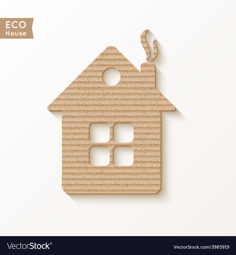 House of cardboard texture vector