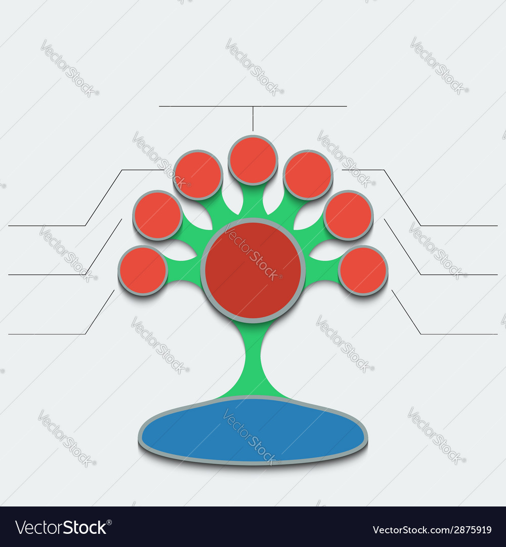 Infographics template abstract colorful tree with vector | Price: 1 Credit (USD $1)
