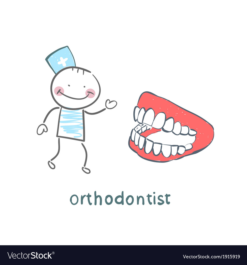 Orthodontist with the jaw vector | Price: 1 Credit (USD $1)