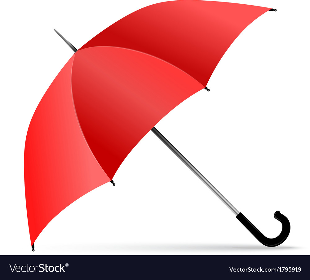 Red umbrella vector | Price: 1 Credit (USD $1)