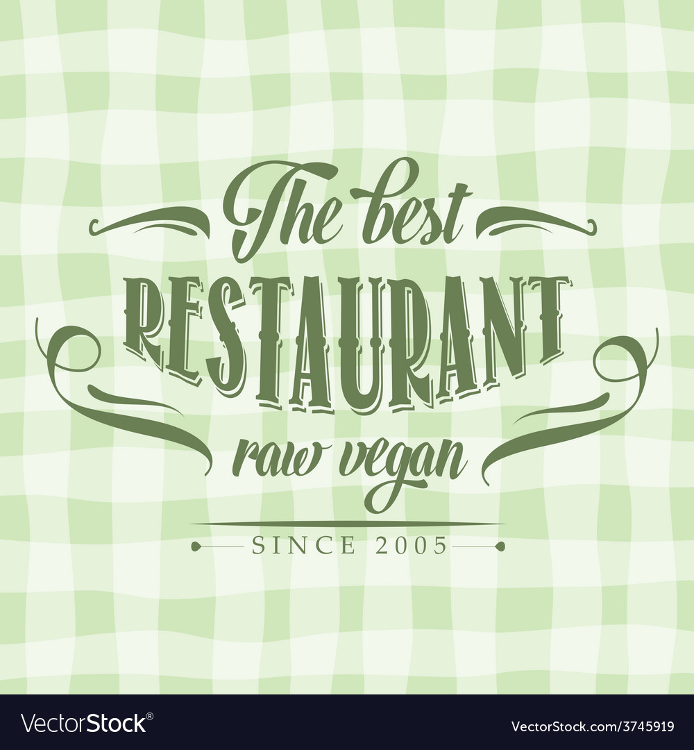 Retro raw vegan restaurant poster vector | Price: 1 Credit (USD $1)