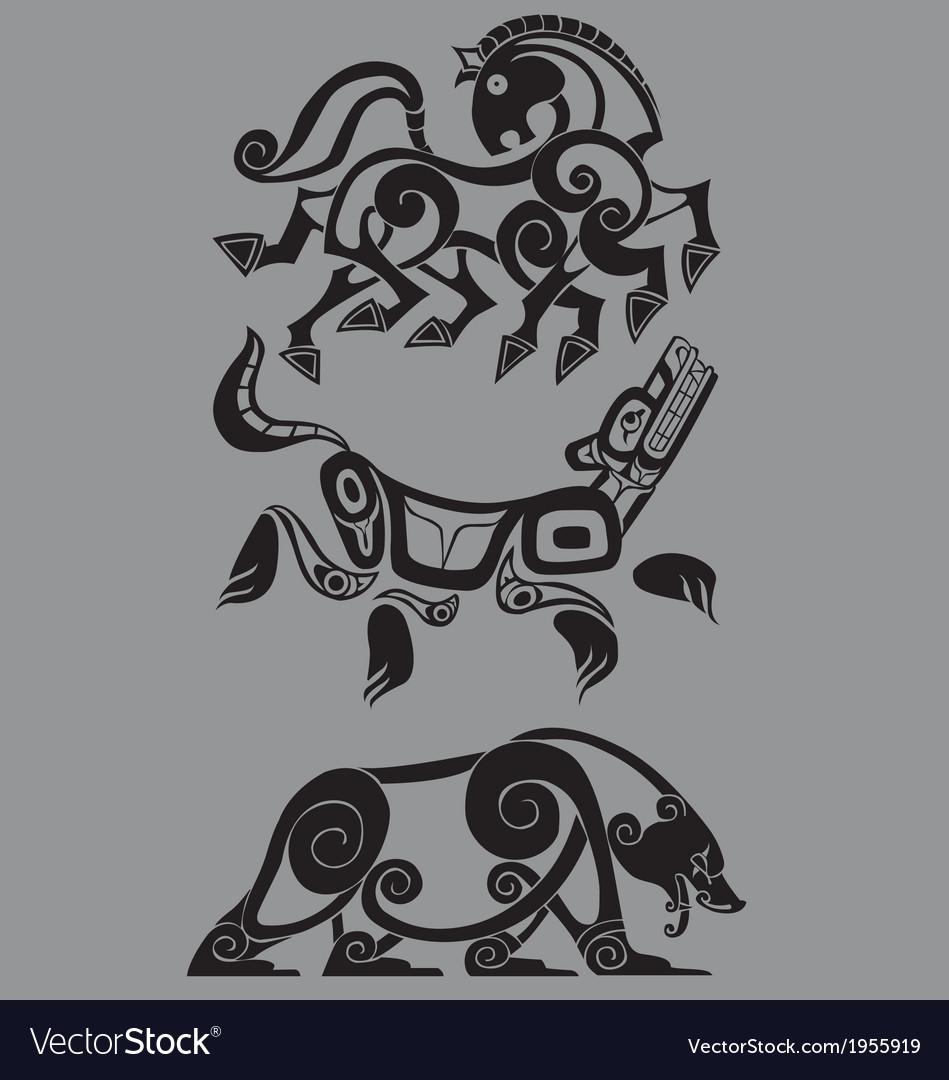 Stylized decorative celtic animal vector | Price: 1 Credit (USD $1)