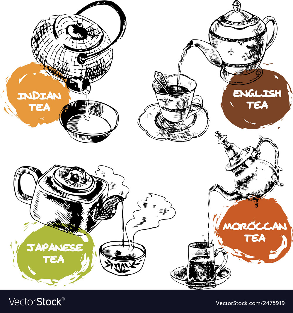Teapot and cups icons set vector   Price: 1 Credit (USD $1)