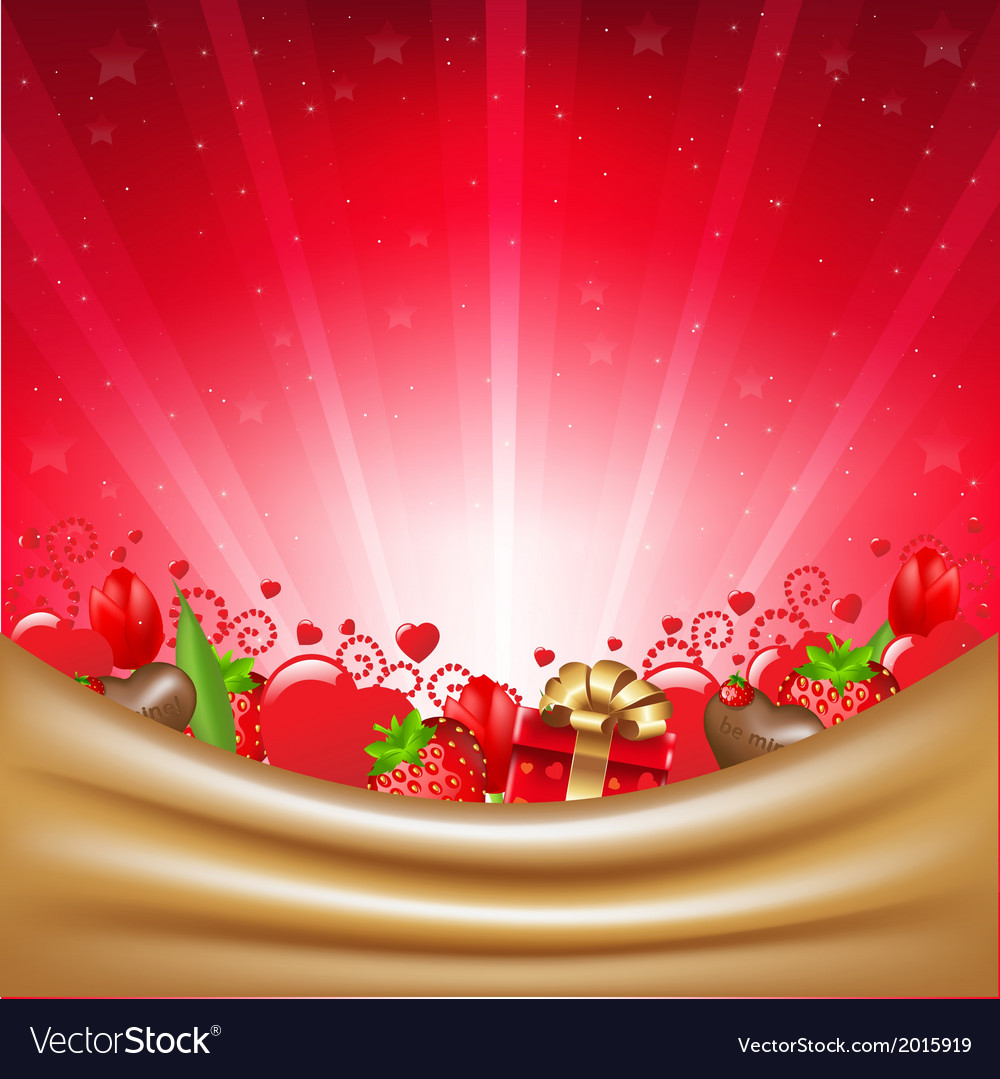 Valentines day card with sunburst vector | Price: 1 Credit (USD $1)