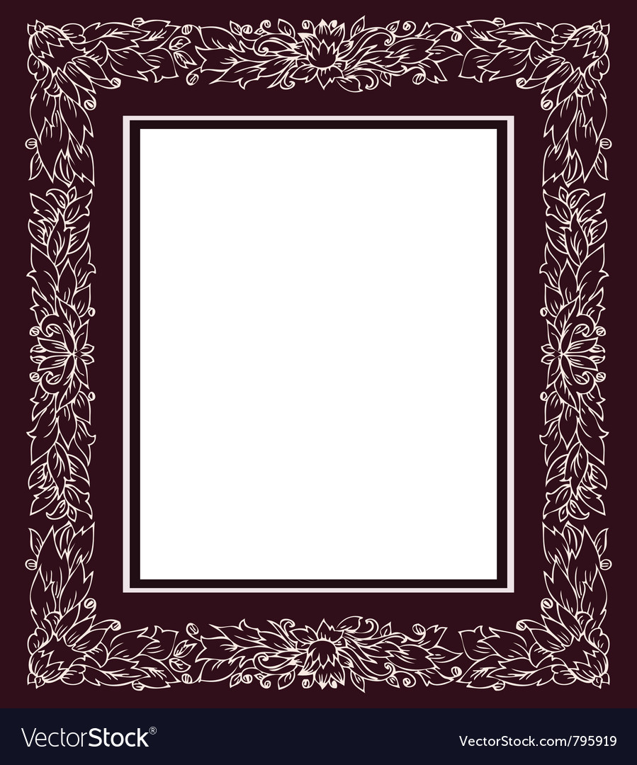Vintage frame with floral ornament vector | Price: 1 Credit (USD $1)