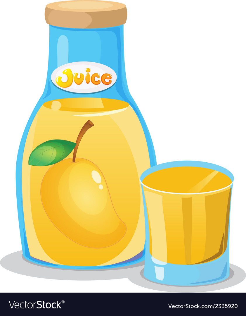 A bottle of mango juice vector | Price: 1 Credit (USD $1)