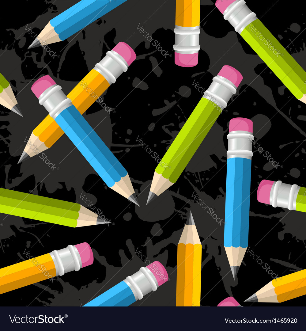 Back to school pencil grunge pattern vector | Price: 1 Credit (USD $1)