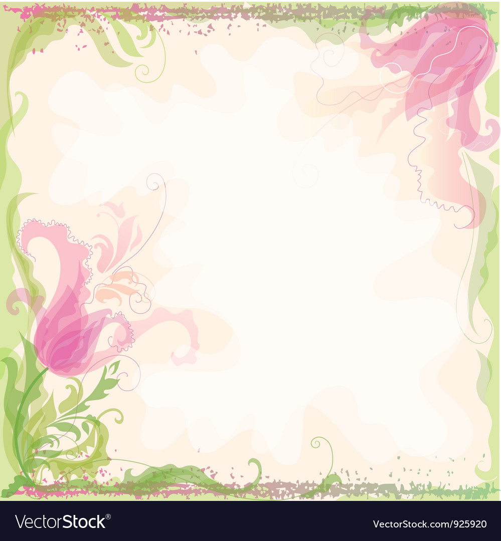 Background with decorative tulips vector | Price: 1 Credit (USD $1)