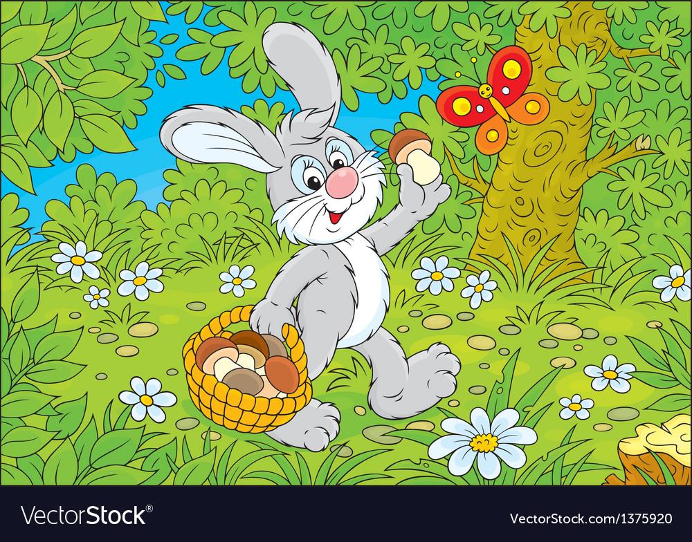 Bunny mushroomer vector   Price: 3 Credit (USD $3)