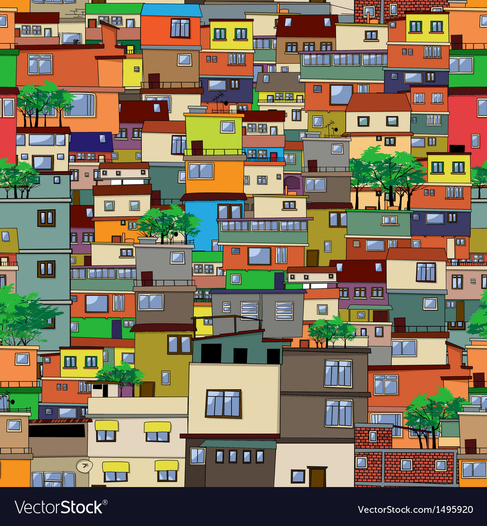 Cartoon city vector | Price: 1 Credit (USD $1)
