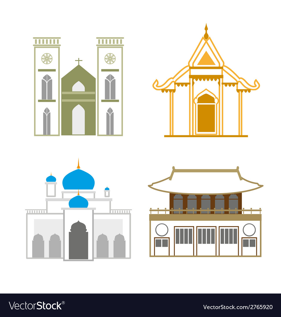 Church outline vector | Price: 1 Credit (USD $1)