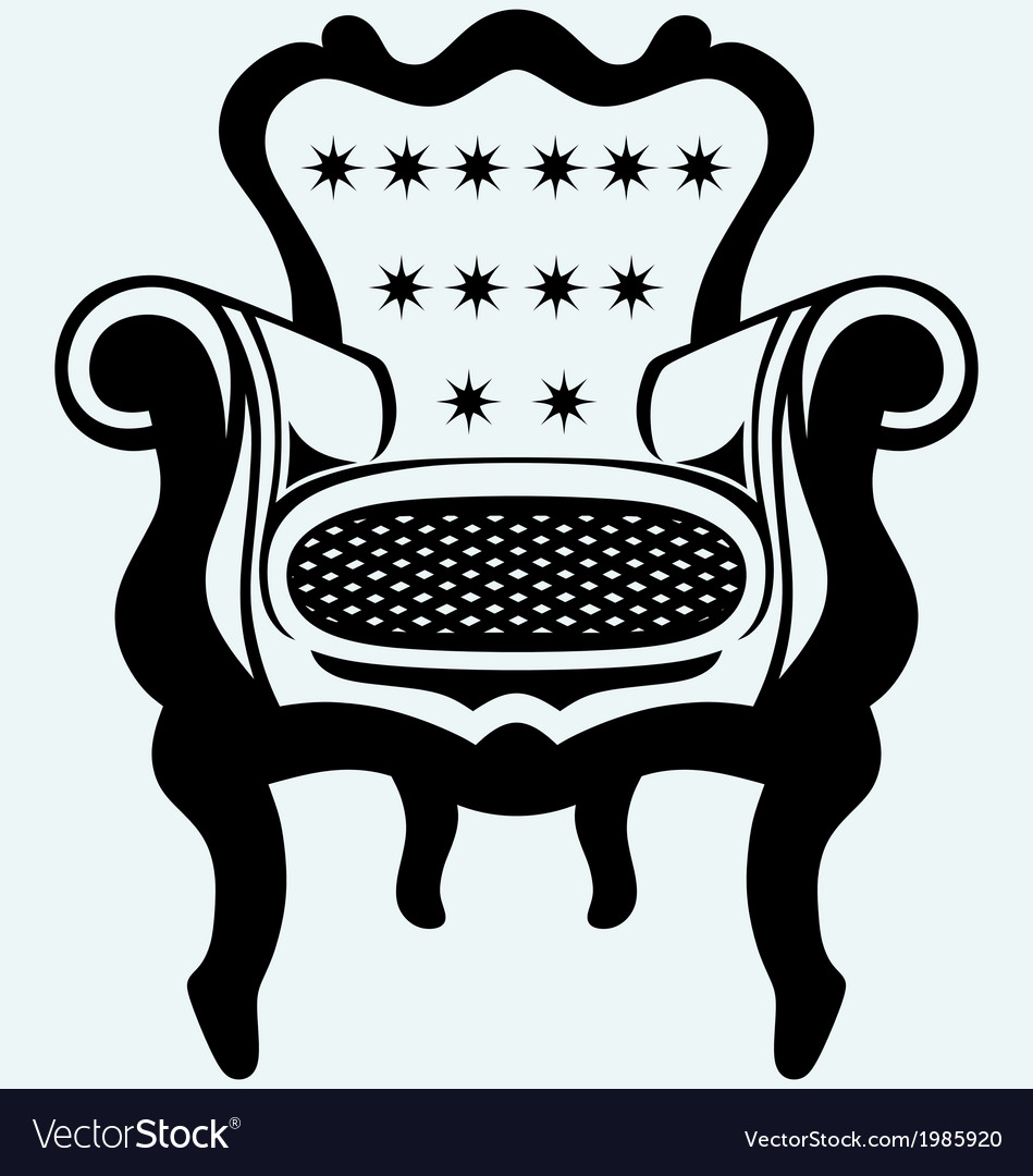 Classic armchair vintage vector | Price: 1 Credit (USD $1)