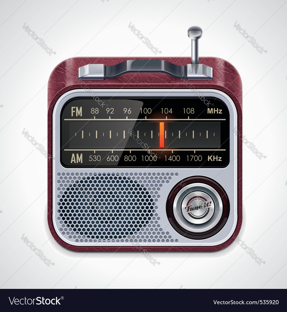 radio xxl icon vector | Price: 3 Credit (USD $3)