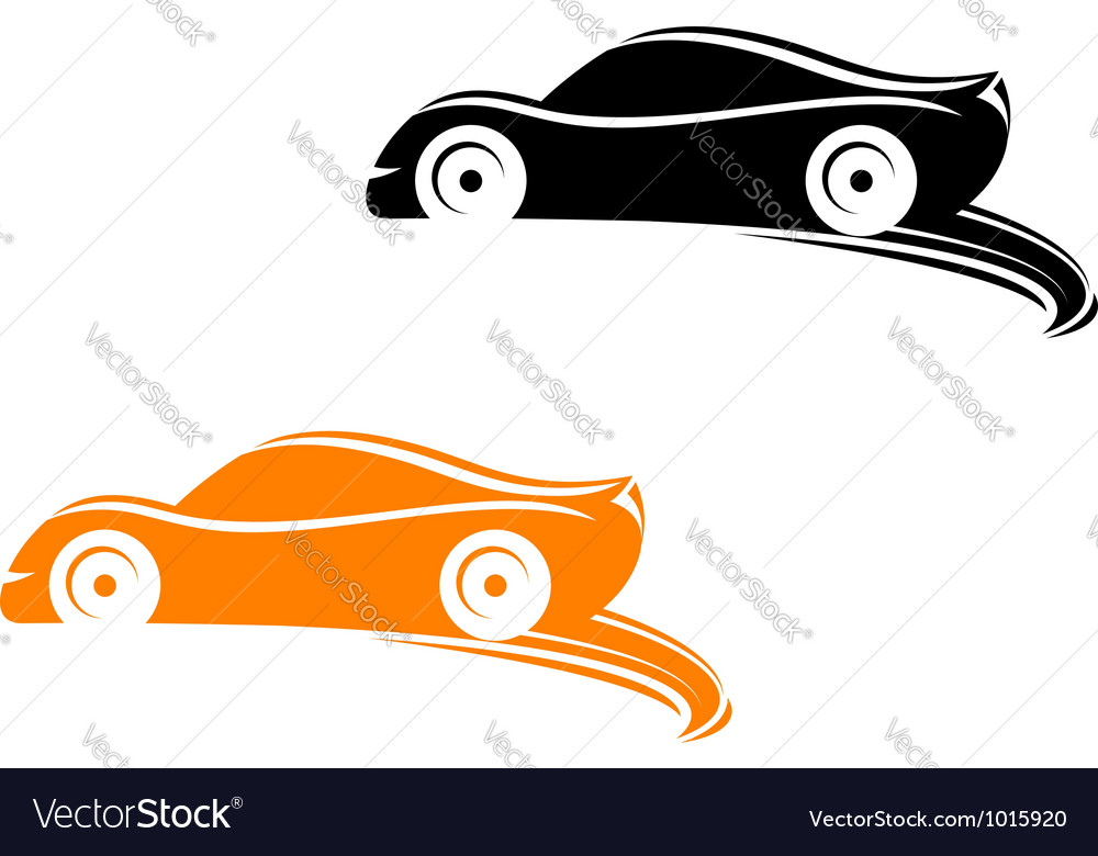 Rally racing cars in silhouette style vector | Price: 1 Credit (USD $1)