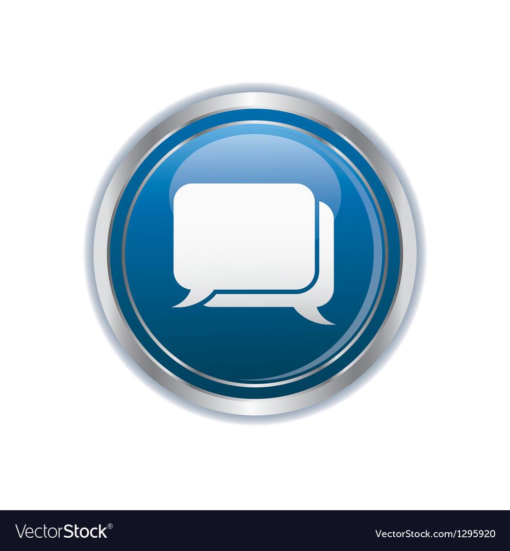 Speech bubbles icon vector | Price: 1 Credit (USD $1)