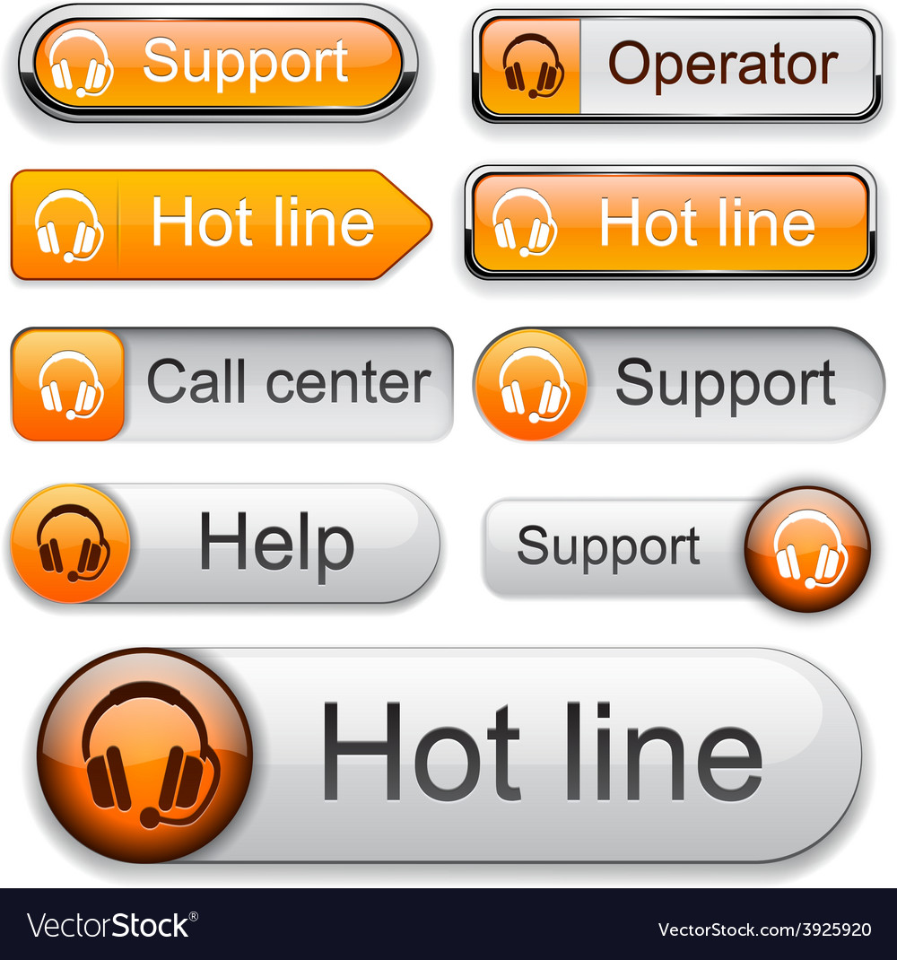 Support high-detailed modern buttons vector | Price: 1 Credit (USD $1)