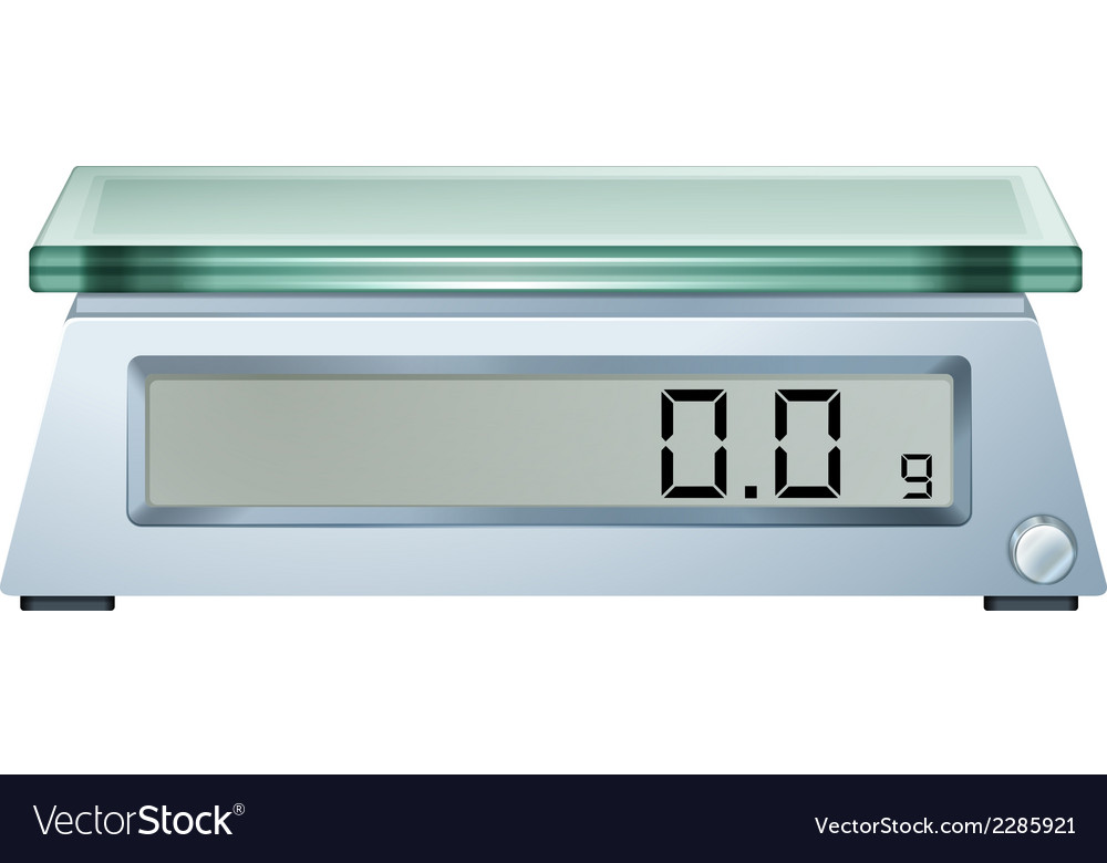 A digital weighing scale vector | Price: 1 Credit (USD $1)