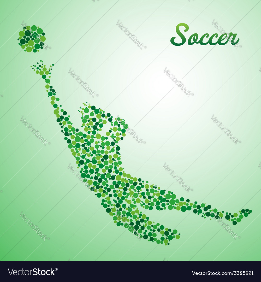 Abstract soccer goalkeeper vector | Price: 1 Credit (USD $1)