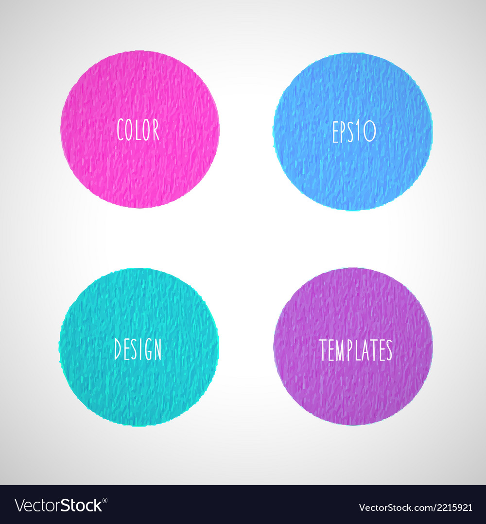 Color circles design templates vector | Price: 1 Credit (USD $1)