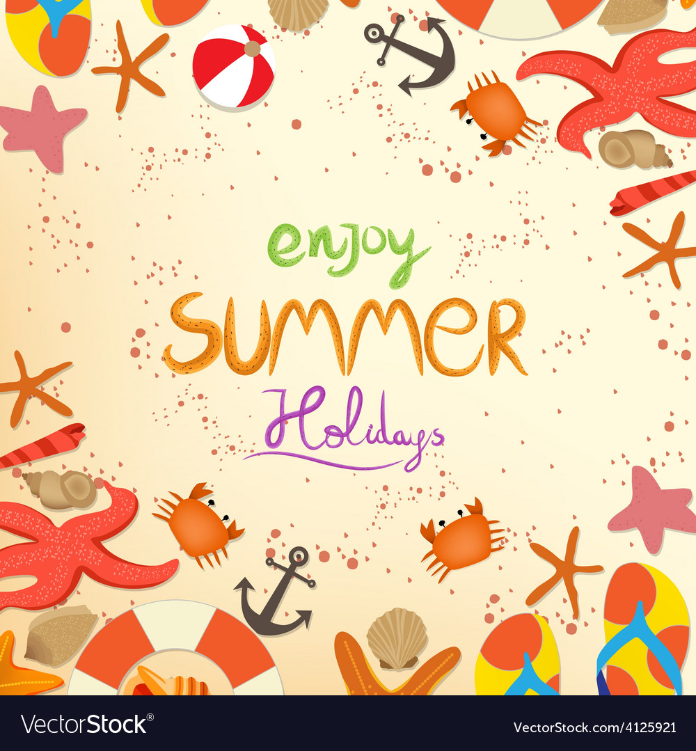 Enjoy summer holiday vector | Price: 1 Credit (USD $1)