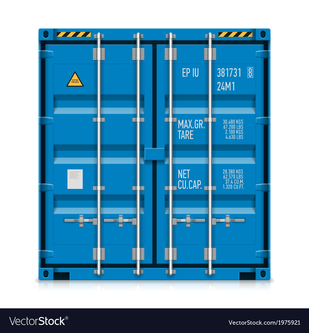 Freight shipping cargo container vector | Price: 1 Credit (USD $1)