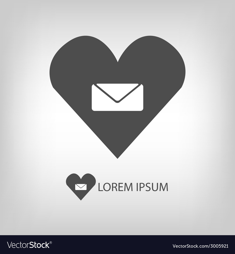 Love mail sign vector | Price: 1 Credit (USD $1)