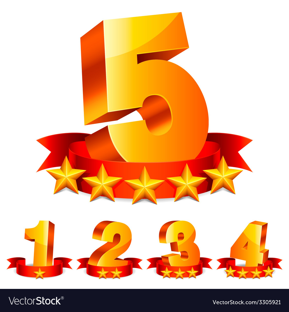 Rating numbers vector | Price: 1 Credit (USD $1)
