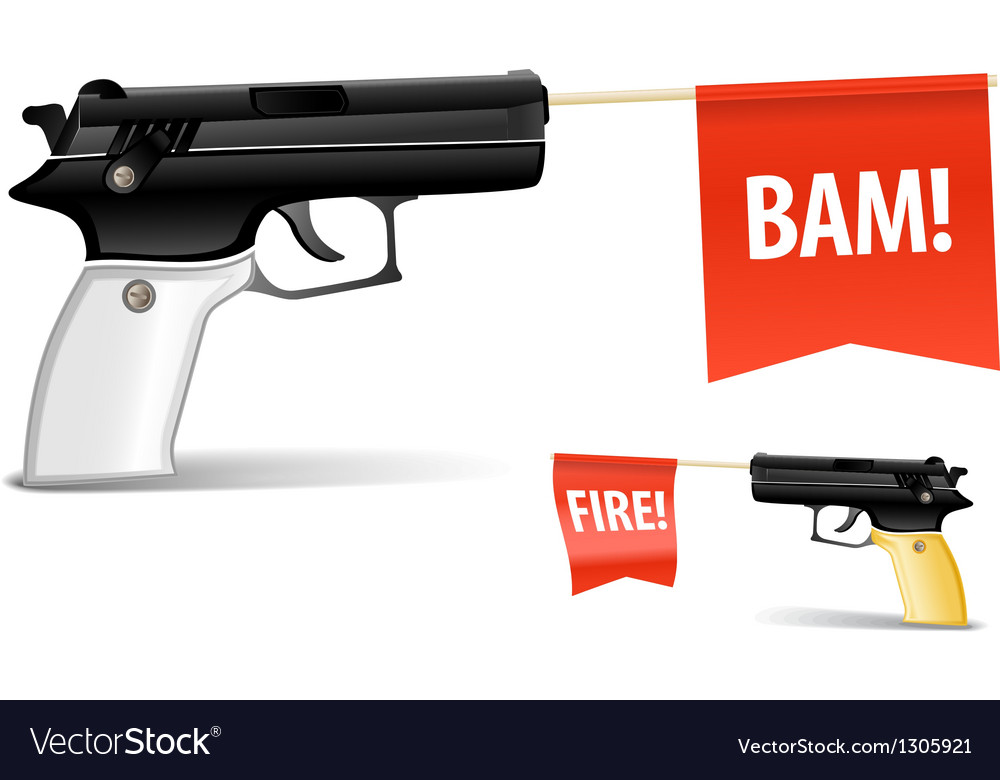 Toy gun vector | Price: 1 Credit (USD $1)