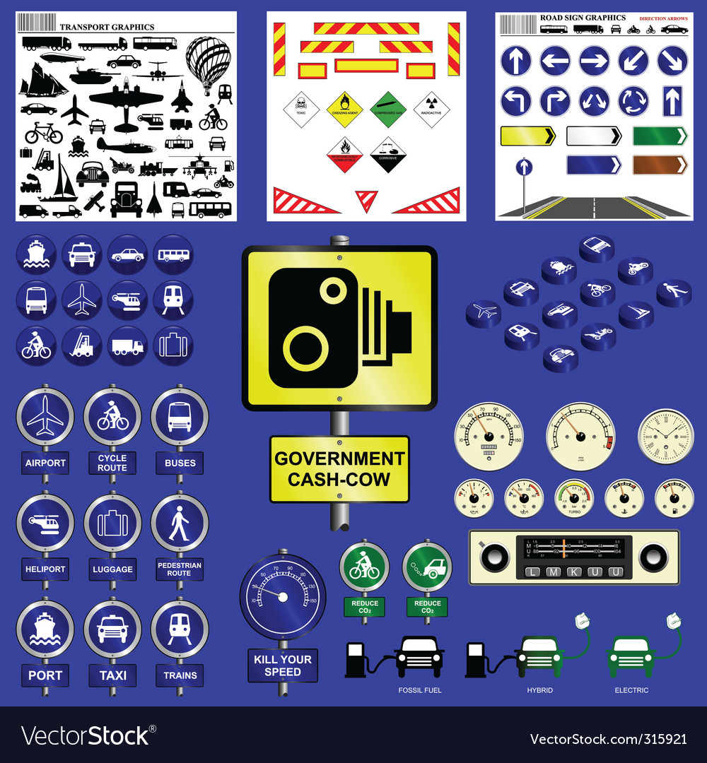 Transport collection vector | Price: 1 Credit (USD $1)