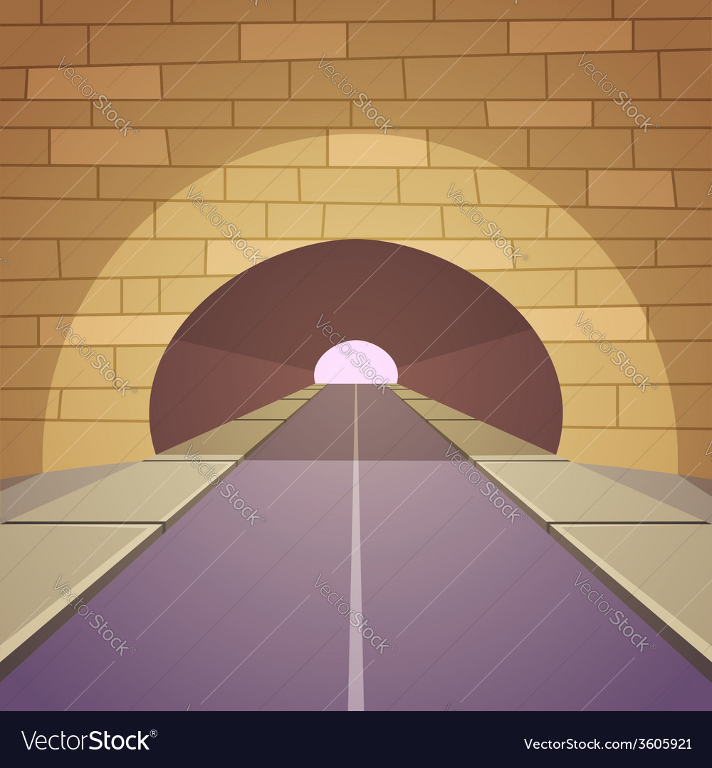 Tunnel road vector | Price: 1 Credit (USD $1)