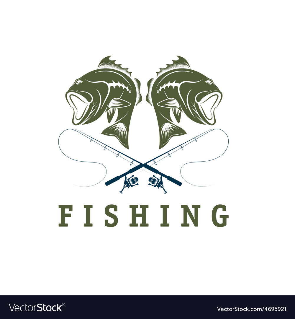 Vintage fishing design template vector   Price: 1 Credit (USD $1)
