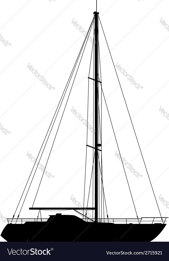 Yacht isolated on white background vector | Price: 1 Credit (USD $1)