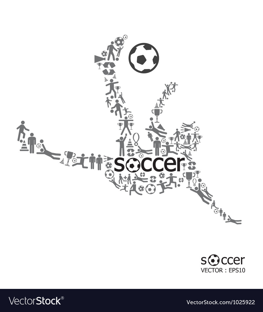 Active soccer player shape vector | Price: 1 Credit (USD $1)