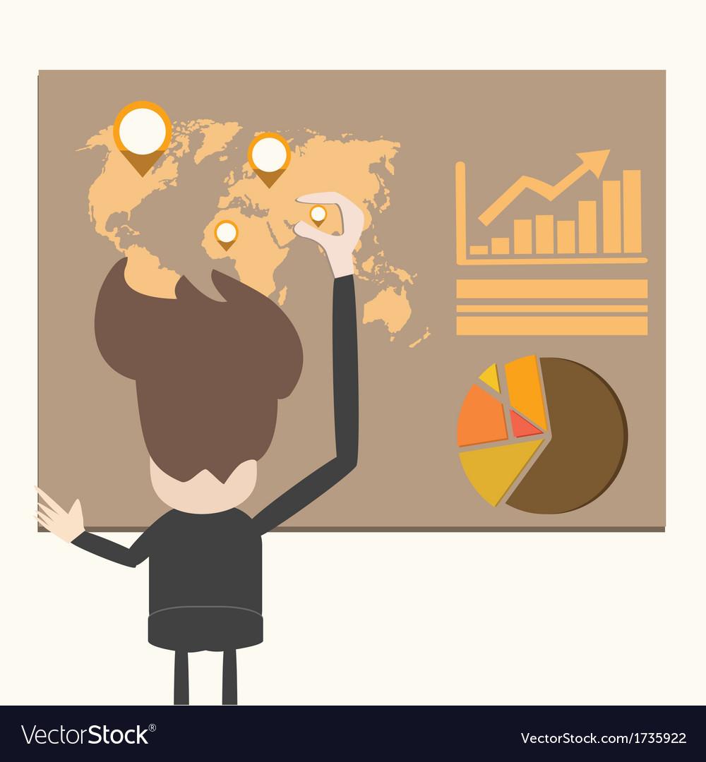 Business man present information vector   Price: 1 Credit (USD $1)