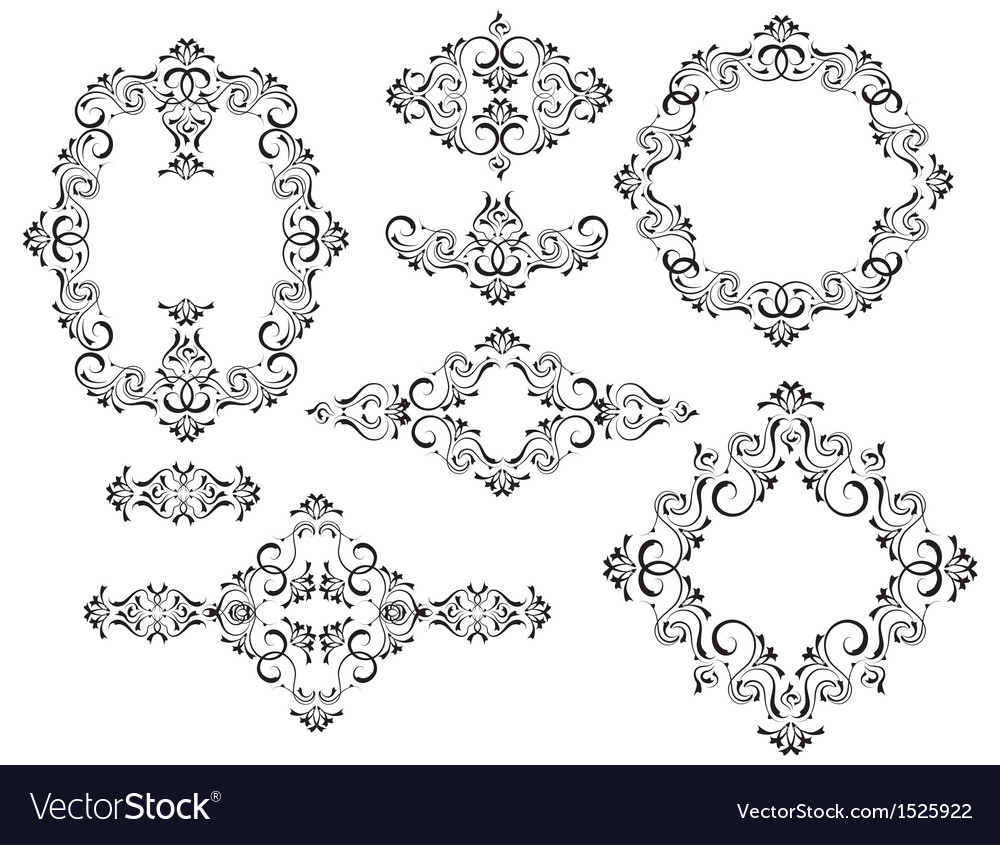 Frames and vignettes vector | Price: 1 Credit (USD $1)