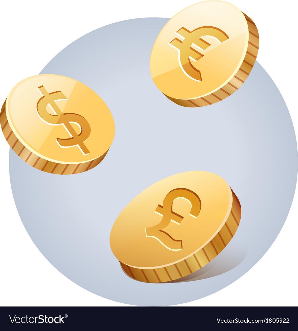 Golden falling money vector | Price: 1 Credit (USD $1)