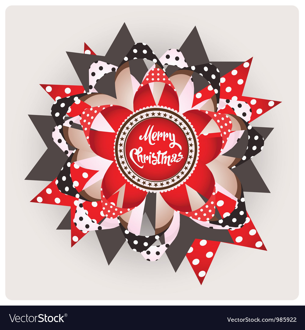 Merry christmas design element vector | Price: 1 Credit (USD $1)