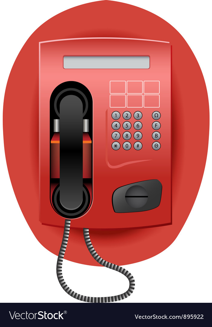 Red telephone vector | Price: 3 Credit (USD $3)