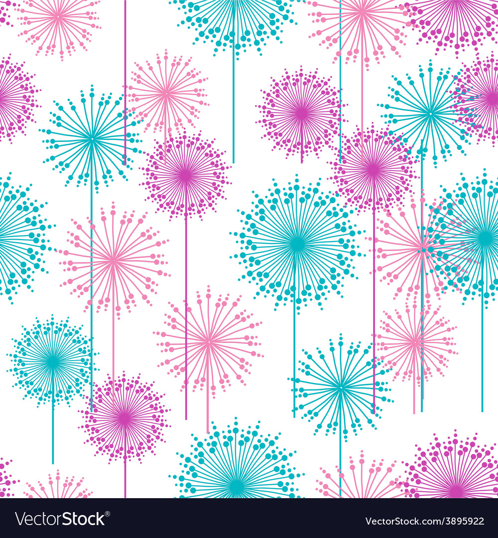 Seamless pattern with abstract dehlia flowers vector | Price: 1 Credit (USD $1)