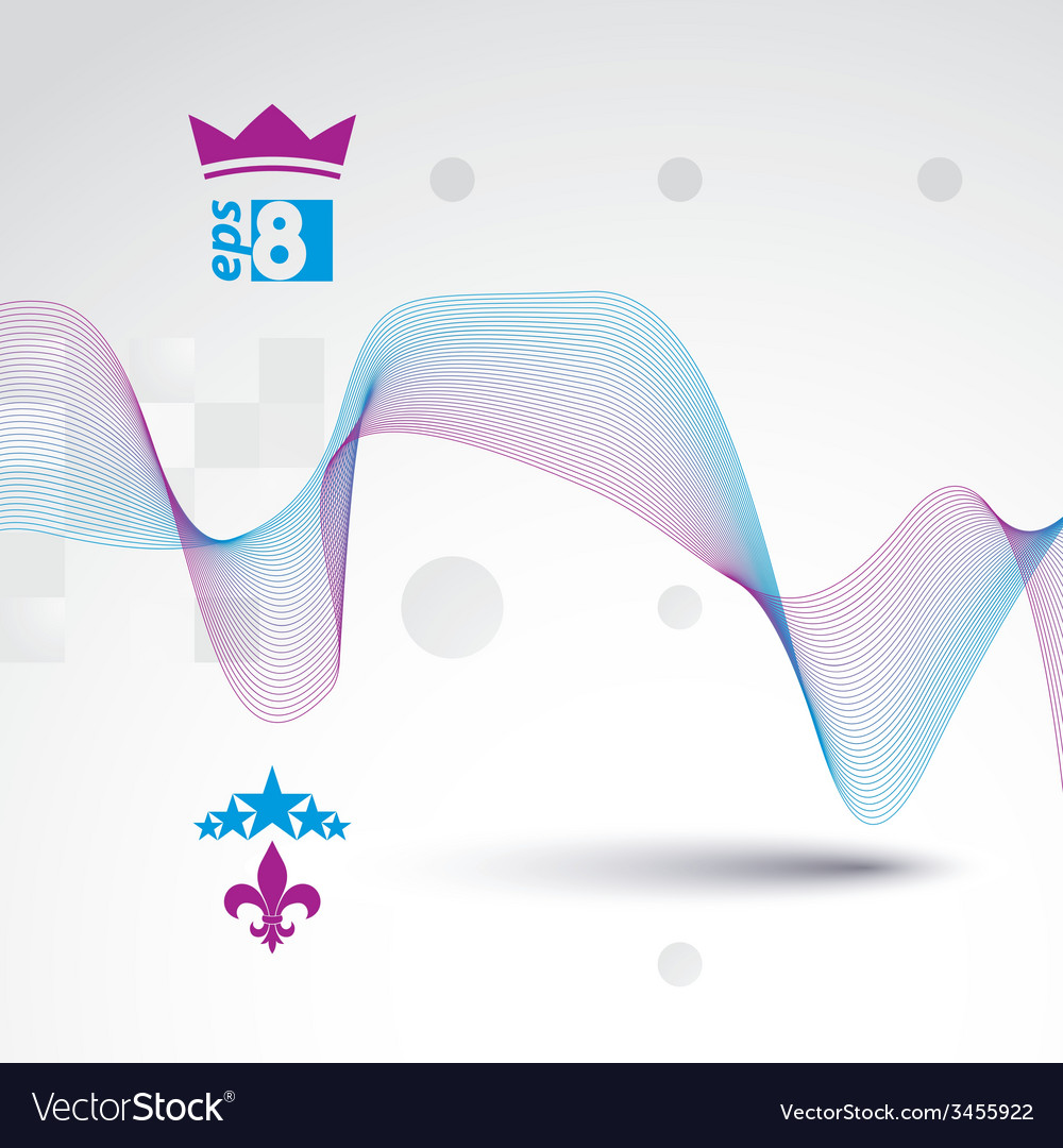 Sophisticated 3d waved decoration clear eps 8 vector | Price: 1 Credit (USD $1)